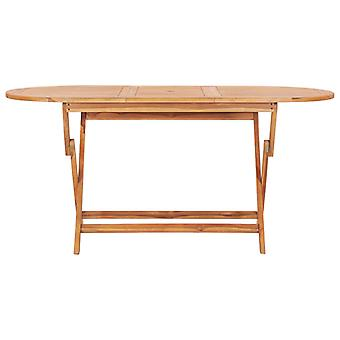 vidaXL Klappbarer Gartentisch 160×80×75 cm Teak Massivholz