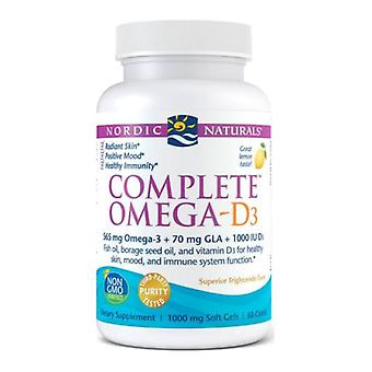 Nordic Naturals Complete Omega-D3, 1000 mg, 60 softgels