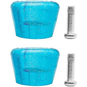 2 Stück Rollschuh Zehenstopper Pu Gummi Rollschuhe Bremsblock Durable (Blau)