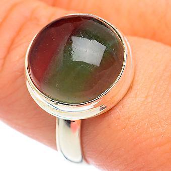 Grøn fluorit Ring Størrelse 9 (925 Sterling Silver) - Håndlavet Boho Vintage smykker RING68588