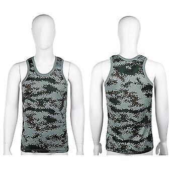 Fashion Militær Style Mænd Vest Camouflage Tank Top Tight Sport Skinny