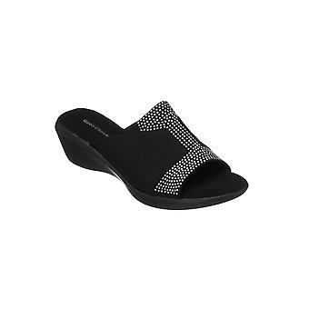 GC Shoes Womens Damita Elastic Wedge Sandal