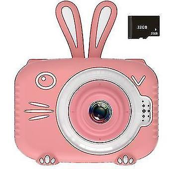 Mini detský digitálny fotoaparát, 1080P detský športový fotoaparát (Pink)