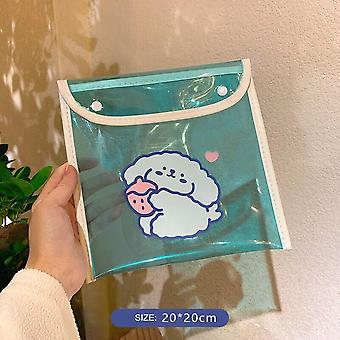 Transparent Cute Bunny Storage Bag, Pencil Case, Makeup Bag, Gift, School And Office Stationery, New Collection