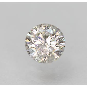 معتمد 0.35 قيراط F لون SI3 جولة رائعة الماس فضفاضة الطبيعية 4.44mm