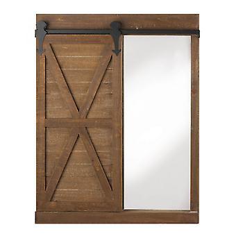Accent Plus לוח גיר ועיצוב קיר מראה עם דלת אסם, חבילה של 1