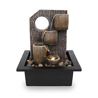 Rum fontän Bord fontän FoCoppe antikbrun Led 26 cm 10971