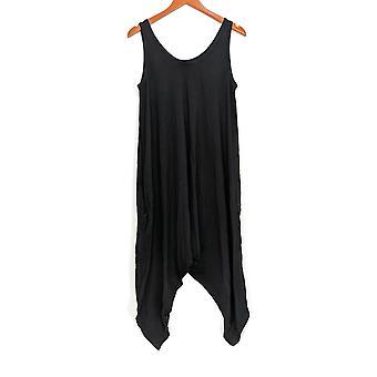 Anybody Jumpsuits Loungewear Cozy Knit Sleeveless Romper Navy Black A306964