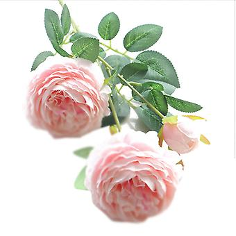 10pcs الزهور الوردية الاصطناعية وهمية روز السائبة زخرفة الزهور الاصطناعية