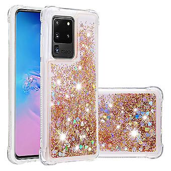 Housse pour Samsung Galaxy S20 Ultra Bumper Cover Sparkly Glitter Bling Flowing Liquid - ou