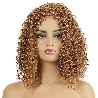 Brand Mall Wigs, Pelucas de encaje, realista esponjoso corto rizado pelo rizado