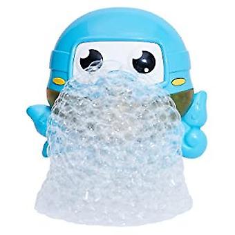Bebé jugando en el agua Octopus Máquina de burbujas eléctrica, bañera para niños y baño Burbujas Octopus Juguetes de baño (azul)