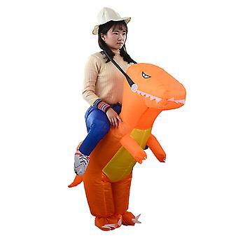Youth Model In Orange (120-150cm) Yutube Same Dinosaur Inflatable Costume Halloween Costume