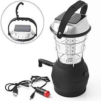 Solar Lantern,hand Crank Dynamo 36 Led Camping Lantern Emergency Light