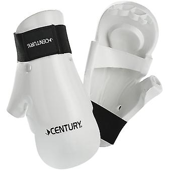 Century Kids Martial Arts Student Hook and Loop Sparring Gloves - White - karate