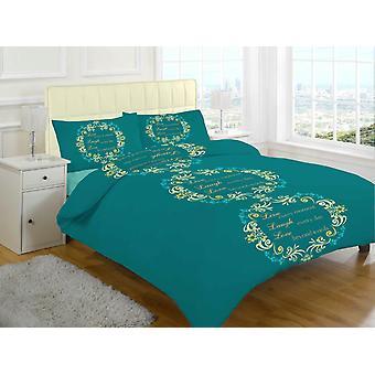 Asher kærlighed børstet bomuld Flannelette termisk dynebetræk sengetøj sæt
