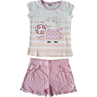 Dziewczyn Peppa Pig ustawić T-shirt i spodenki zestaw