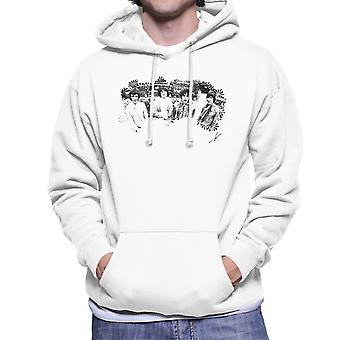 Pink Floyd Ruskin Park sparare Hooded Sweatshirt floreale in bianco e nero maschile 1967