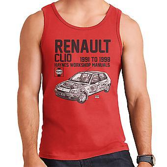 Haynes Owners Workshop Manual Renault Clio Black Men's Vest