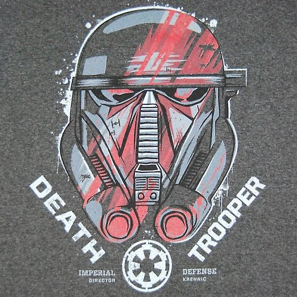 Star Wars Mens Star Wars Rogue une escouade casque T Shirt Charcoal