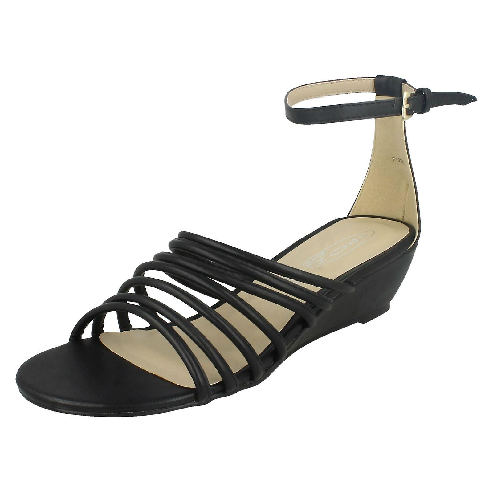 Miejscu panie na połowie klinowe Paski sandały z paskiem na kostce PwXbN