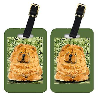 Carolines Treasures  SS8709BT Pair of 2 Chow Chow Luggage Tags