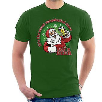 عيد الميلاد في الوقت الأكثر الرائع تي شيرت البيرة للرجال