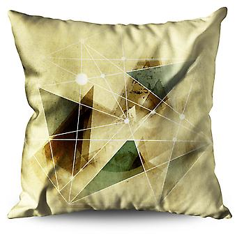 Geometric Figure Linen Cushion 30cm x 30cm | Wellcoda