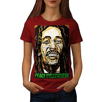Bob Marley Singer Women RedT-shirt | Wellcoda