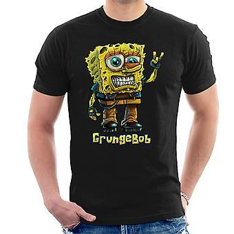 Spongebob paródia grungebob férfiak ' s T-shirt