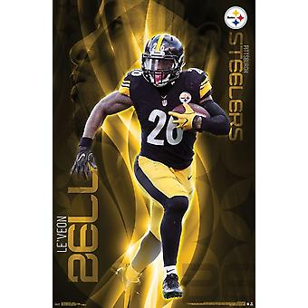 Pittsburgh Steelers - Bell LeVeon Poster Print