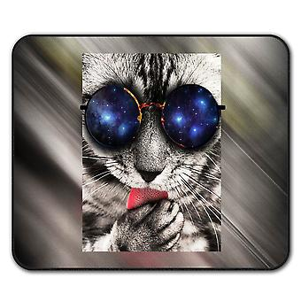 Space Sunglasses Cute  Non-Slip Mouse Mat Pad 24cm x 20cm | Wellcoda