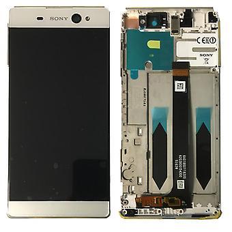 Sony Display LCD Komplett Einheit mit Rahmen für Xperia XA Ultra F3211 Weiß Ersatzteil