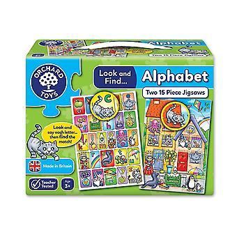 Orchard Toys chercher et trouver Alphabet puzzle - 2 dans une boîte