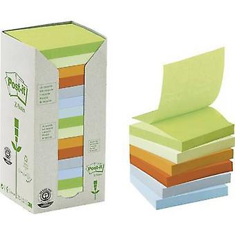 3M Sticky note 7000081137 76 mm x 76 mm Green, Light green, Yellow, Orange, Sky blue, Light blue 1600 sheet