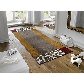 wassen + droge mat Florita wasbaar vloer mat bloemen motief