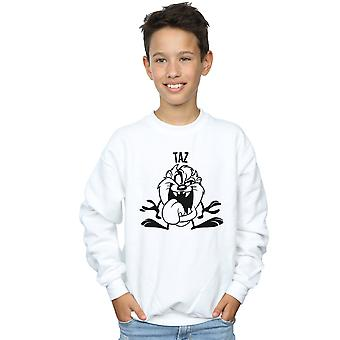 Looney Tunes pojkar Taz stort huvud Sweatshirt