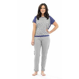 Ladies Tom frankerne Star Print polyester og bomull lang Pyjama pyjamas Lounge slitasje