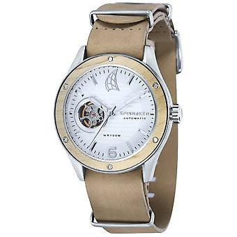 Spinnaker Wood Sorrento Watch - Beige