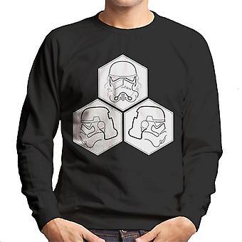 Original Stormtrooper Linie Kunst Helm Sechsecke Herren Sweatshirt