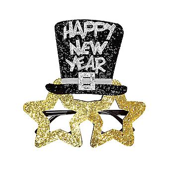 Gafas de oro feliz año nuevo