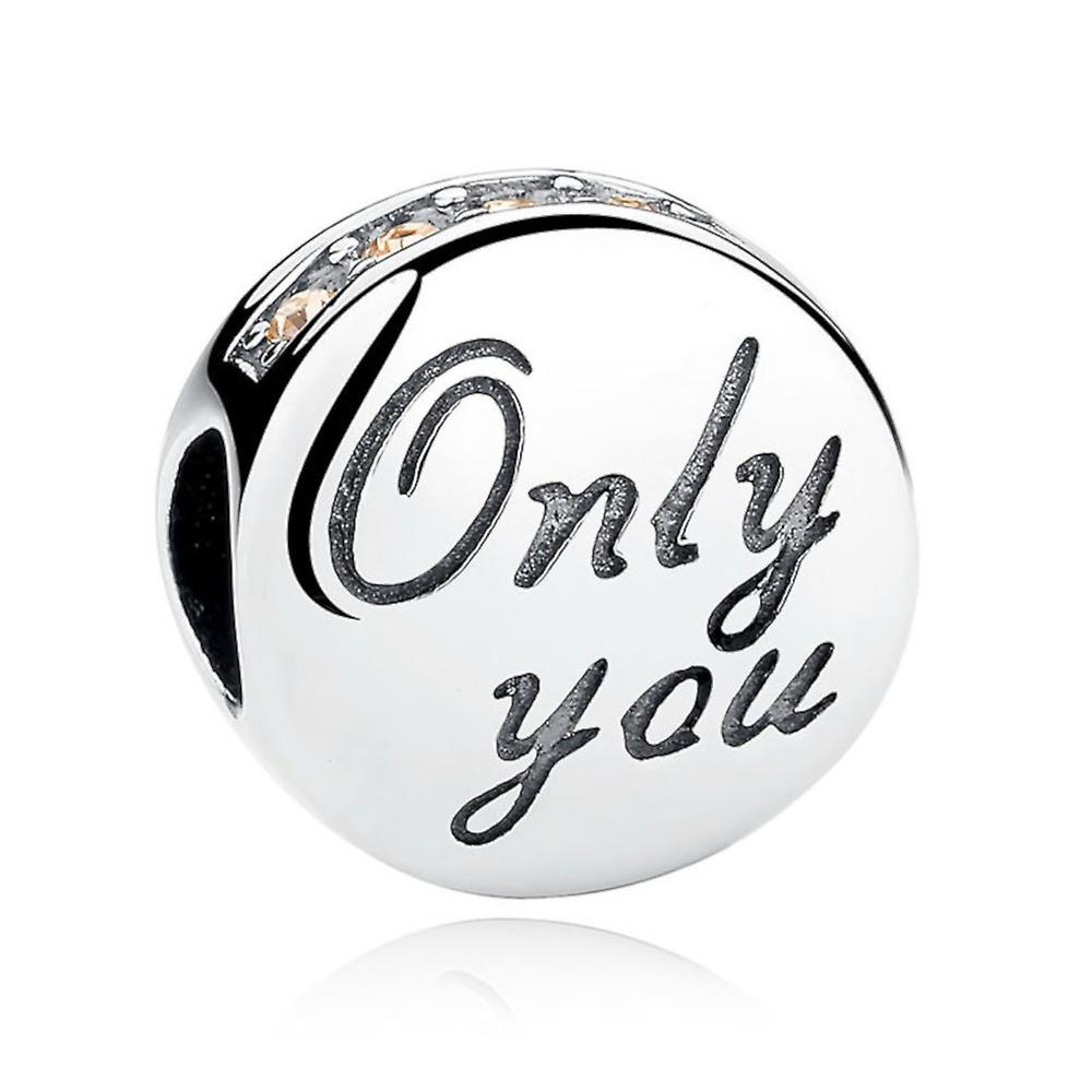 Sterling silver charm Only you