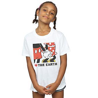Девочки Дисней Микки Маус сердце земли футболку