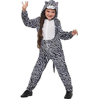 トラ猫コスチューム、子供の動物デザインの凝った服、大きな年齢 10-12