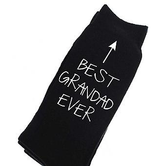 Best Grandad Ever Black Calf Socks Birthday Socks