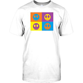 Jack Skellington Warhol Typ Design Herren T Shirt