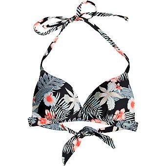 Roxy Beach Classics Moulded Triangle Bikini in Anthracite Tropical