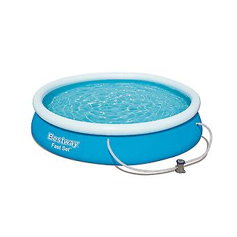 Bestway Round Inflatable Pool with Filter Pump, Fast Set, 12 ft