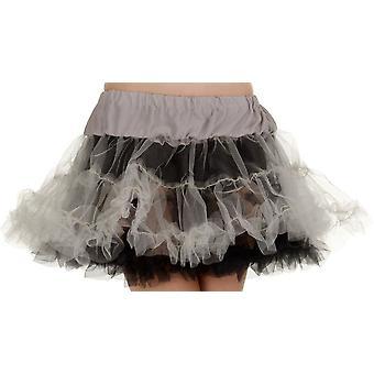 Petticoat Tutu Adult Blk& Gray