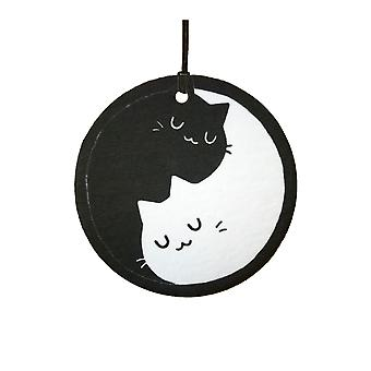 Yin Yang Cats Car Air Freshener